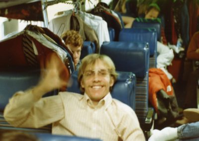 Larry on the bus