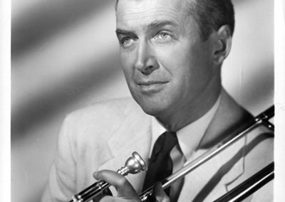 "Jimmy Stewart as ""Glenn Miller"""